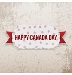 Happy canada day realistic emblem vector
