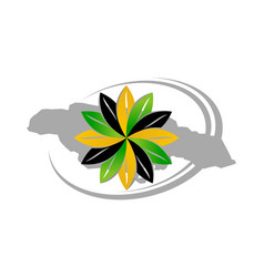 Jamaica flower logo design template vector
