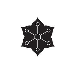 jasmine black concept icon jasmine flat vector image