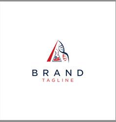 letter a lab science logo medical design vector image