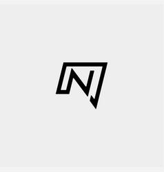 Letter n chat logo template design vector