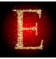 letter star e vector image
