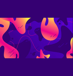 liquid shapes background colorful gradients vector image