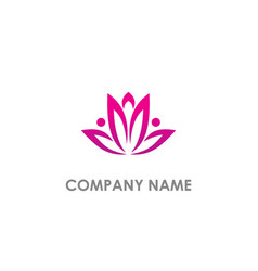 lotus flower blossom purple logo vector image