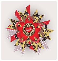 Love message leopard design vector image