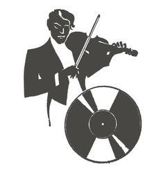 Male violinist playing the violin vector image
