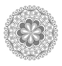 mandala vintage decoration geometric pattern vector image