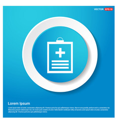 medical file icon vector image