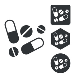 Medicine icon set monochrome vector image