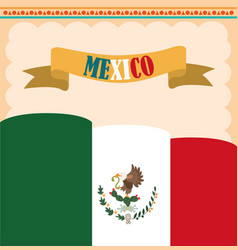 Mexican independence day national flag country vector