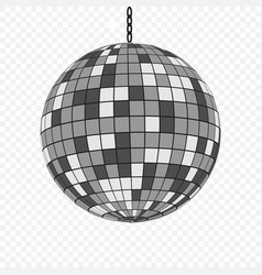 Mirror disco ball isolated template for your vector