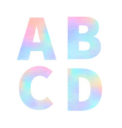 modern a b c d letters with bright colorful vector image