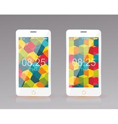 Modern smart phone mobile interface wallpaper vector