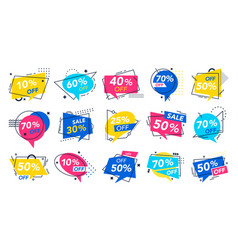 modern special offer badge discount badges store vector image