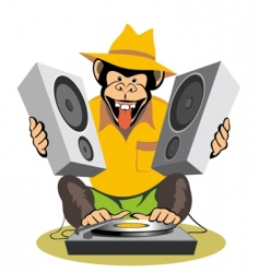 monkey Dj vector image