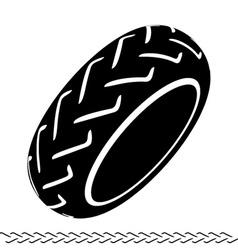 Motorbike tire black symbol vector