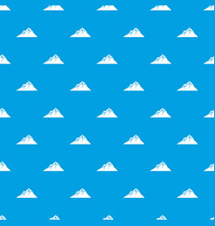 mountains pattern seamless blue vector image
