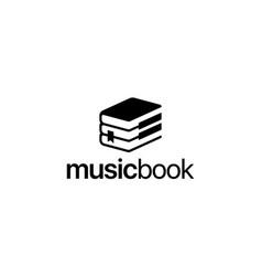 music and book logo design concept vector image