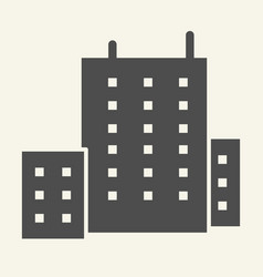 office building solid icon architecture vector image