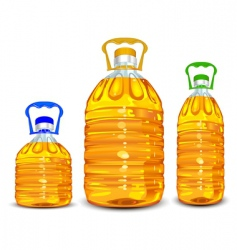 Oil bottles vector