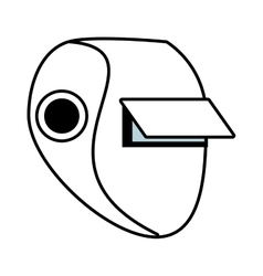 Outline welder mask eyes security sign vector