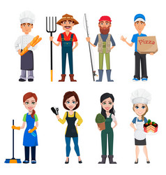 people of different professions vector image