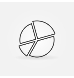 Pie chart line icon vector
