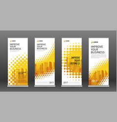 real estate roll up banners design templates set vector image
