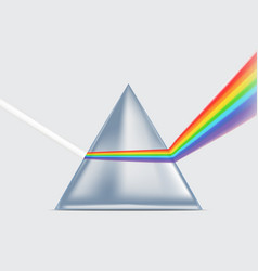 realistic detailed 3d spectrum prism vector image