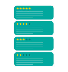 Review feedback rating bubble with star icon on vector