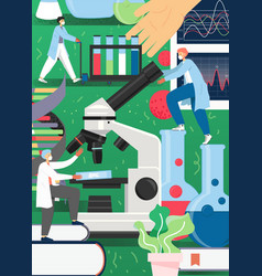 science people working in lab poster vector image