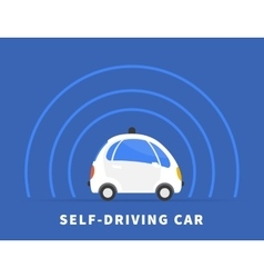 Self-driving car black icon vector