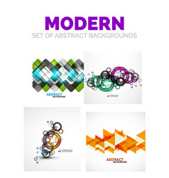 Set of futuristic modern abstract template vector