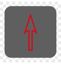 Sharp Arrow Up Rounded Square Button vector