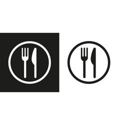 sign with fork and knife vector image