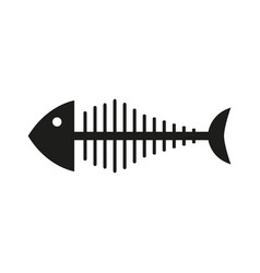 skeleton fish icon vector image