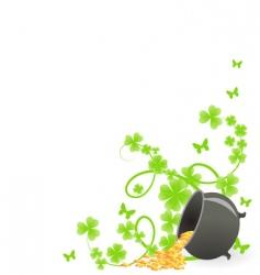 St Patrick's pattern corner vector image