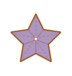 Starfish beautiful marine and beauty animal vector