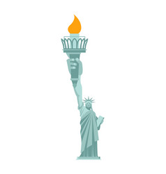 statue of liberty is large hand torch united vector image