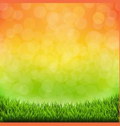 Summer banner with grass border vector