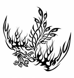 tattoo with phoenix vector image