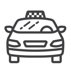 taxi car line icon transport and automobile vector image