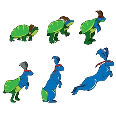 Turtle To Rabbit vector
