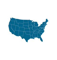 Usa map icon usa map icon united states of vector