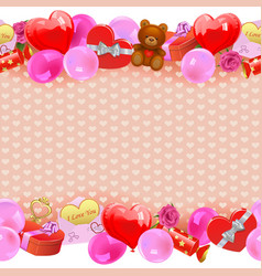 Valentine day border vector