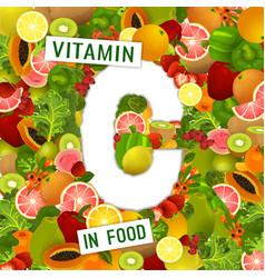 vitamin c background vector image