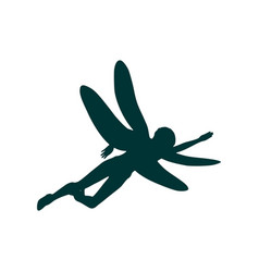 woman dragonfly vector image