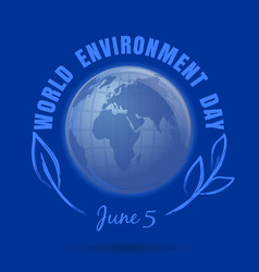 World environment day design june 5 vector