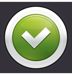Yes button Ok icon green sticker vector image