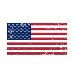 Flag USA sign Grunge National symbol vector image